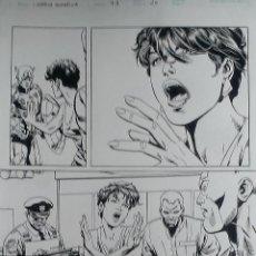 Cómics: CAPITAN AMERICA#43.DAVE ROSS.PAGINA ORIGINAL ART COMIC.. Lote 46768984