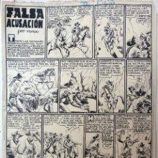 Cómics: DIBUJO ORIGINAL PLUMILLA, FALSA ACUSACION , POR P. GAGO , 1948 , 2 HOJAS , ORIGINAL, C. Lote 46804360