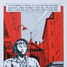 Cómics: DIRAT. SERIGRAFÍA SOBRE UN TEMA DE BRUCE SPRINGSTEEN. NUMERADA Y FIRMADA. AUTOEDICIÓN. LYON, 1984. Lote 47010991