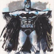 Cómics: ILUSTRACIÓN ORIGINAL DE BATMAN POR FELIPE ECHEVARRIA (SANDMAN). Lote 47147466