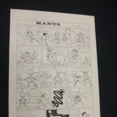 Cómics: MANUS - FIRMADO SEBERN 89 - 46 CM. X 31,5 CM. - . Lote 47428766