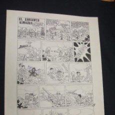 Cómics: EL SARGENTO KIMOSKO - FIRMADO SE. BERN. 4-76 - 47 CM. X 36,5 CM. - . Lote 47429097