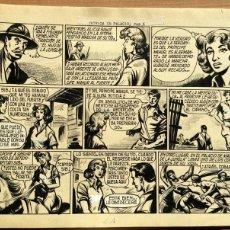 Cómics: DIBUJO ORIGINAL PLUMILLA- EL HIJO DE LA JUNGLA -Nº53- INTRIGA EN PALACIO 2ª PARTE DE 3 -1957 -PÁG. 6. Lote 47775907