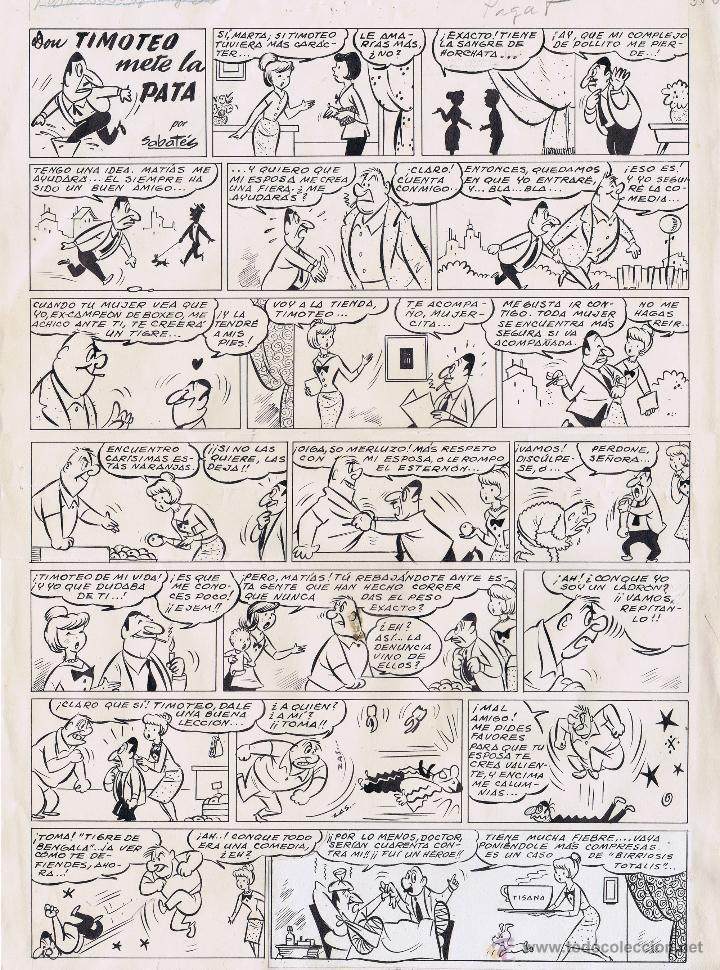 ORIGINAL DEL TBO POR SABATES (Tebeos y Comics - Comics - Art Comic)