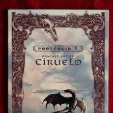 Cómics - Portafolio 1. Fantasy Art. Ciruelo Cabral. Portafolio dedicado por el autor. Perfecto estado - 47893790