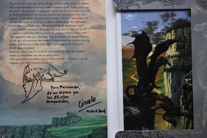 Cómics: Portafolio 1. Fantasy Art. Ciruelo Cabral. Portafolio dedicado por el autor. Perfecto estado - Foto 2 - 47893790