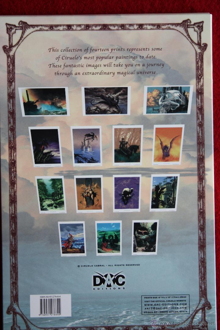 Cómics: Portafolio 1. Fantasy Art. Ciruelo Cabral. Portafolio dedicado por el autor. Perfecto estado - Foto 4 - 47893790