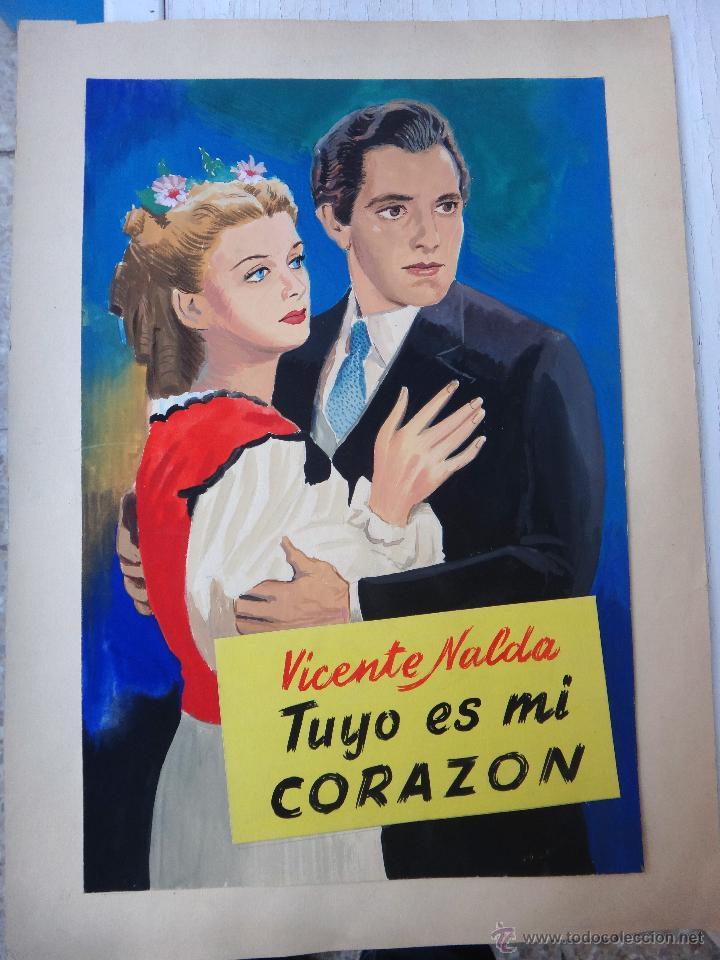 DIBUJO ORIGINAL COLOR , TUYO ES MI CORAZON, GRANDE , DESCONOZCO AUTOR , ORIGINAL , E (Tebeos y Comics - Art Comic)