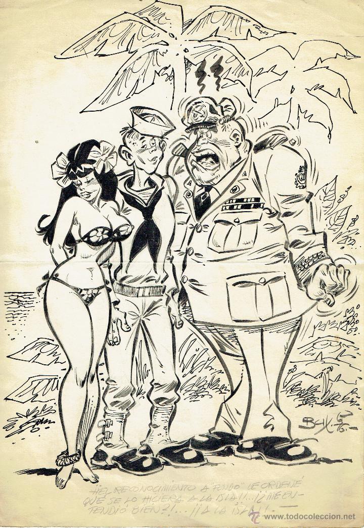 DIBUJO ORIGINAL JORDI BUXADÉ - PVP 600€ (Tebeos y Comics - Art Comic)