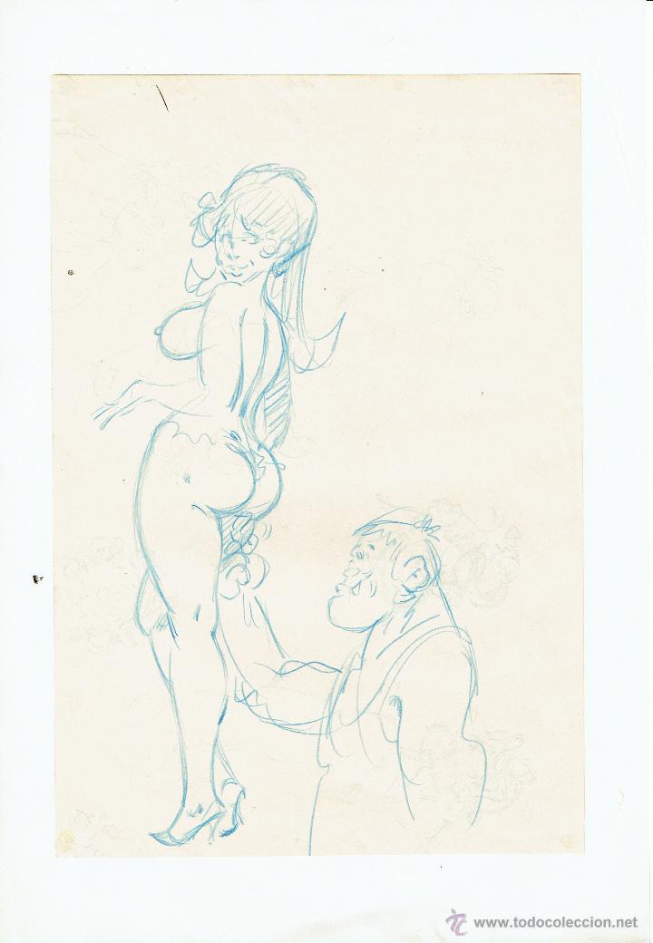 DIBUJO ORIGINAL JORDI BUXADÉ - PVP 150€ (Tebeos y Comics - Art Comic)
