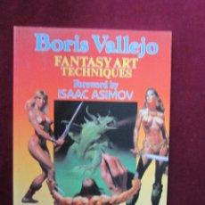 Cómics: BORIS VALLEJO. FANTASY ART TECHNIQUES. PROLOGO DE ISAAC ASIMOV. PAPER TIGER 1985 MBE TEBENI. Lote 49056339