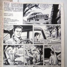 Cómics: DIBUJO ORIGINAL PLUMILLA , UN ASUNTO COMPLICADO , JAIMITO EXTRA 1968 , ROBERT LLIN , 4 HOJAS , E. Lote 49074821