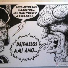 Cómics: VIÑETA/ILUSTRACION ORIGINAL, FIRMADA. 30X42CM. MEJOR EN MANO!. Lote 49127152