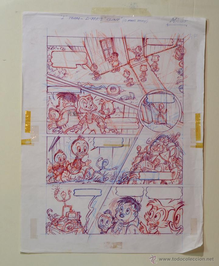 DIBUJO ORIGINAL DISNEY- CLINT - JMM - PVP 150€ (Tebeos y Comics - Art Comic)