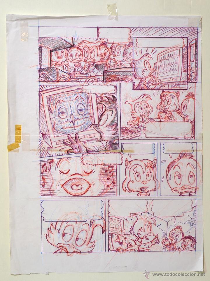 DIBUJO ORIGINAL DISNEY CLINT 2- JMM - PVP 125€ (Tebeos y Comics - Art Comic)
