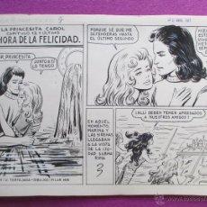 Cómics: DIBUJO ORIGINAL PLUMILLA, Nº12, LA HORA DE LA FELICIDAD,LA PRINCESITA CAROL, PILAR MIR, 10 HOJAS,C11. Lote 49694647