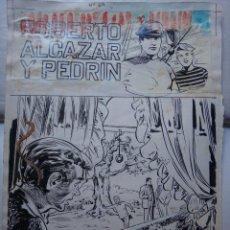 Cómics: DIBUJO ORIGINAL PLUMILLA, PORTADA ROBERTO ALCAZAR Y PEDRIN Nº 69 , LA BANDA DEL COBRA , E. Lote 50049918