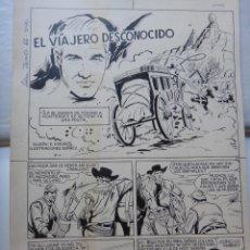 Cómics: DIBUJO ORIGINAL PLUMILLA EL VIAJERO DESCONOCIDO IBAÑEZ SELECCIONES JAIMITO Nº 66 6 HOJAS , E. Lote 50050932