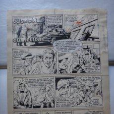 Cómics: DIBUJO ORIGINAL PLUMILLA JUSTICIA CUMPLIDA BOLUDA ALMANAQUE ROBERTO ALCAZAR 1963 6 HOJAS , E. Lote 50051020