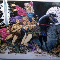 Cómics: LA ESPADA MAGICA- MAGNIFICA ILUSTRACION ORIGINAL, FIRMADA. 30 X 42 CM.. Lote 50092098