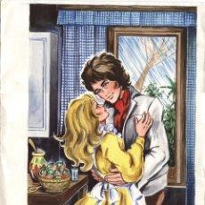 Cómics: PORTADA FIRMADA / PAGINA ORIGINAL DE MENOU #33 (AUTOR CARMEN BARBARÀ). 1975.. Lote 50169112