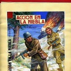 Cómics: DIBUJO ORIGINAL COLOR , PORTADA ACCION EN LA NIEBLA , VAÑO ,ORIGINAL, G. Lote 50394546