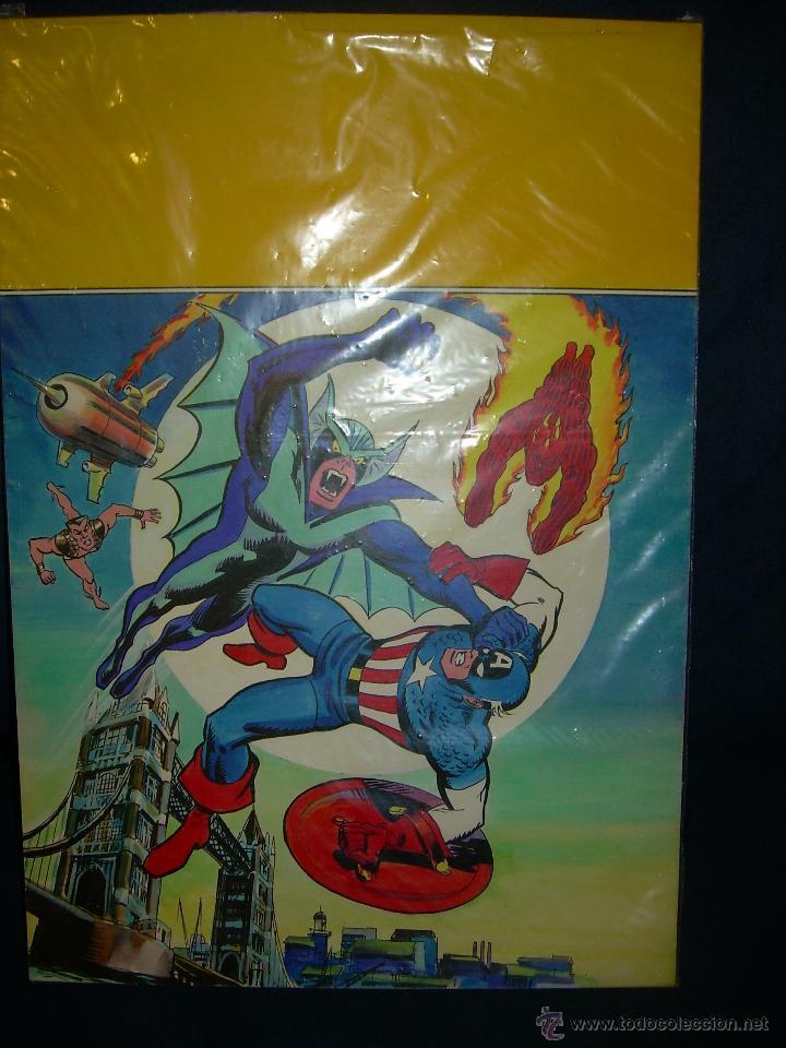 PORTADA ORIGINAL DE LÓPEZ ESPI LOS INVASORES (Tebeos y Comics - Art Comic)