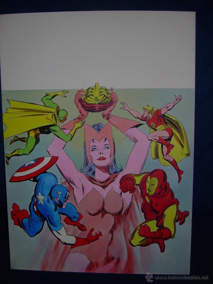 PORTADA ORIGINAL DE LÓPEZ ESPI LOS VENGADORES (Tebeos y Comics - Art Comic)