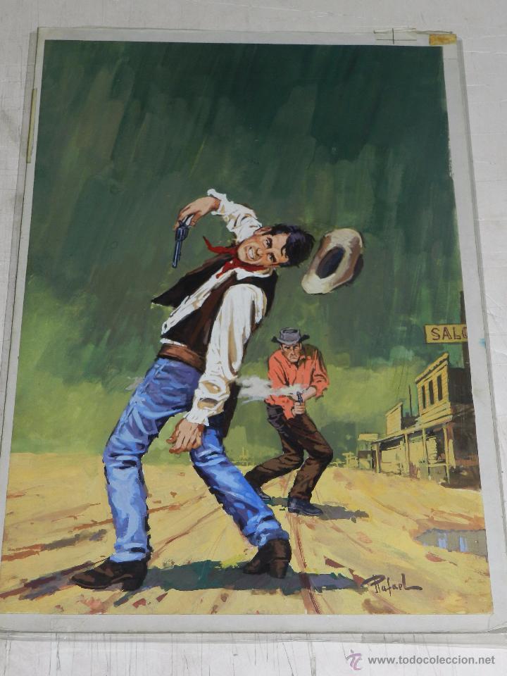 D7) PORTADA ORIGINAL DIBUJADA POR RAFAEL , SELECCIONES ILUSTRADAS, 38 X 26CM, BUEN ESTADO (Tebeos y Comics - Art Comic)