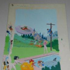 Cómics: (P15) DIBUJO ORIGINAL DE LA PORTADA DE LA PELICULA - EL INSTITUTO CHERRY HILLS. Lote 50427364