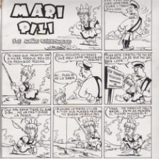 Cómics: ORIGINAL ILUSTRADO POR J. RIZO MARI PILI LA NIÑA TERREMOTO . Lote 50451481