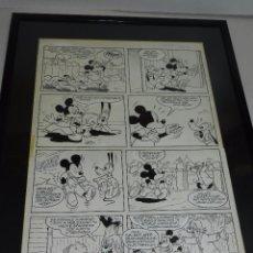 Cómics: DIBUJO ORIGINAL MICKEY MOUSE PLUTO POR JAUME CASES ,REVISTA MICKEY DE BELGICA AÑOS 80. Lote 50714890