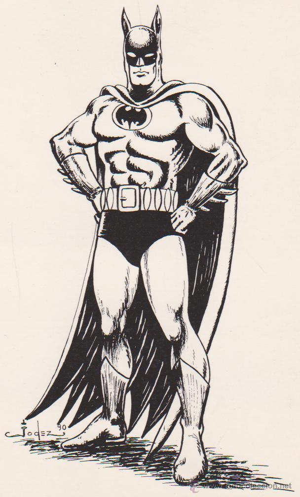 BATMAN. CARTULINA 21,5X15,5. (Tebeos y Comics - Art Comic)
