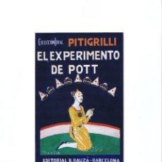 Cómics: PORTADA ORIGINAL DE JUAN DE MENA (YORICK) TITULADA EL EXPERIMENTO DE POTT. Lote 51384616