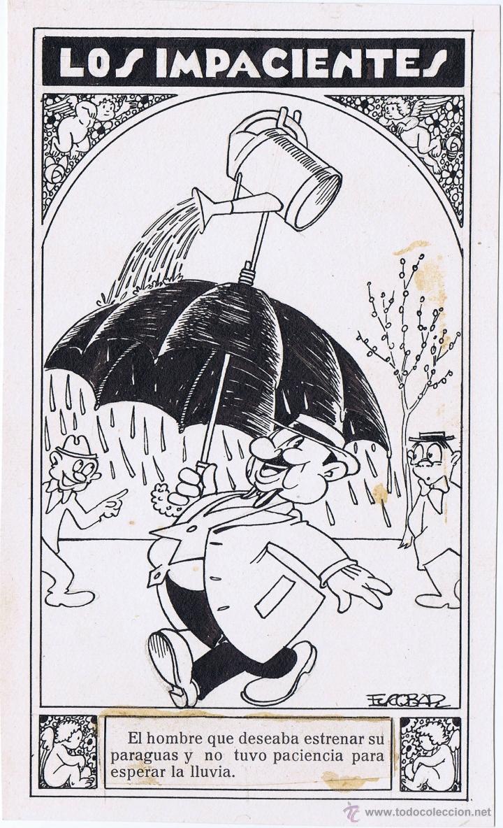 ORIGINAL DE ESCOBAR LOS IMPACIENTES (Tebeos y Comics - Comics - Art Comic)