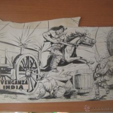 Cómics: FLECHA ROJA Nº 1 (COMPLETO). PLANCHAS ORIGINALES.. Lote 52676424