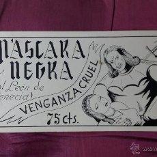 Cómics: PORTADA ORIGINAL DE FERNANDO FLORES - MASCARA NEGRA Nº 7 - PARA MANRAF. Lote 52758569