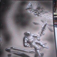 Cómics: DIBUJO ORIGINAL.TINTA, AEROGRAFO .ART COMIC. FIRMADO NEON.1980. 51 X 36,5 CM.. Lote 52893868