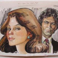 Cómics: ORIGINAL ART DIBUJO ORIGINAL DE EDMOND PARA NOVELA CORIN TELLADO DE BRUGUERA. Lote 52965511