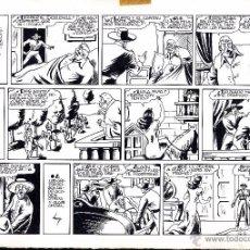 Cómics: ART COMIC ORIGINAL AMBROS 34 X 24 JINETE FANTASMA PAG 3 INTREPIDEZ Y ASTUCIA CARPE AMARILLA. Lote 53013266
