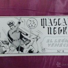 Cómics: PORTADA ORIGINAL DE FERNANDO FLORES - MASCARA NEGRA Nº 8 - PARA MANRAF. Lote 53300957