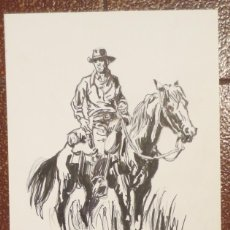 Cómics: DIBUJO ILUSTRACIÓN ORIGINAL OESTE DE RAFAEL CORTIELLA ORIGINAL ART DRAWING. Lote 53501917