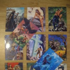 Cómics: TRADING CARD DE JOE JUSKO. SELECCIÓN DE 11 CROMOS CARDS CON ILUSTRACIONES DE TARZAN. Lote 53661499