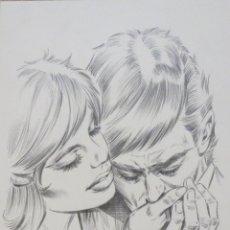 Cómics: DIBUJO ILUSTRACION ORIGINAL ROMANTICA 2 DE ENRIC BADIA ROMERO ORIGINAL ART. Lote 53846157