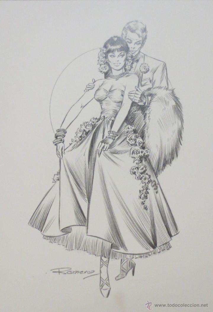 DIBUJO ILUSTRACION ORIGINAL ROMANTICA 5 DE ENRIC BADIA ROMERO ORIGINAL ART (Tebeos y Comics - Comics - Art Comic)