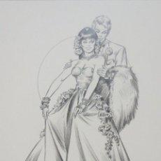 Cómics: DIBUJO ILUSTRACION ORIGINAL ROMANTICA 5 DE ENRIC BADIA ROMERO ORIGINAL ART. Lote 53846220