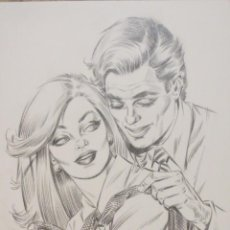 Cómics: DIBUJO ILUSTRACION ORIGINAL ROMANTICA ENRIC BADIA ROMERO ORIGINAL ART. Lote 53846388