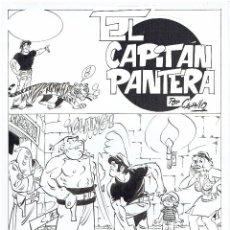 Cómics: EL CAPITÁN PANTERA - PORTADA ORIGINAL - ANTONIO PÉREZ CARRILLO - 300€. Lote 53857667