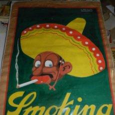 Cómics: CARTEL ORIGINAL DIBUJADO POR URDA - PAPEL DE FUMAR SMOKING , 103 X 70 CM, ORIGINAL. Lote 53864277