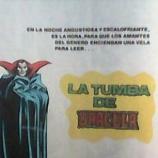 Cómics: DAVID MORTON - MIS LÁMINA´S POP - SERIE ART COMIC - LA TUMBA DE DRACULA -PROMO VÉRTICE 2 -GENE COLAN. Lote 54075124
